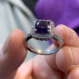 Peoples Jewellers Amythyst Ring size 8